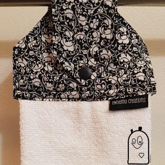 Hanging Towel Black & White