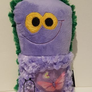 Scrappie Critter in purple with Butterfly & Firefly motif