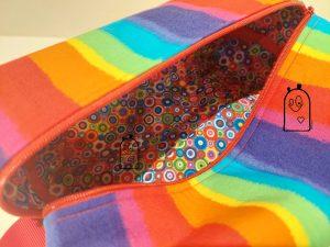 Lining of Rainbow Themed Zippered Bag